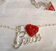 Collier Guess Argent I Love Guess
